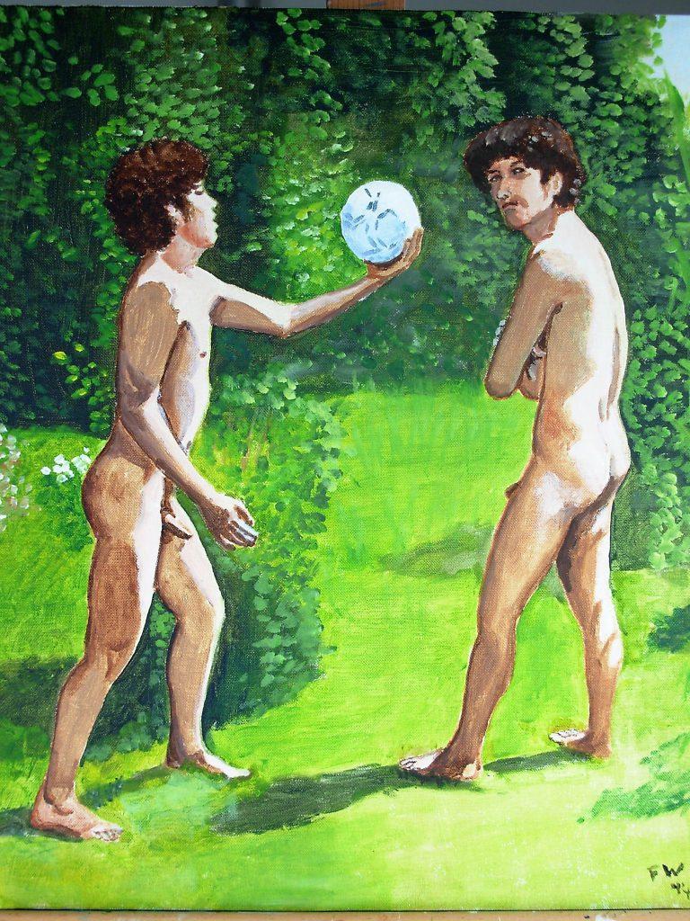 Twee keer Daniel in de tuin