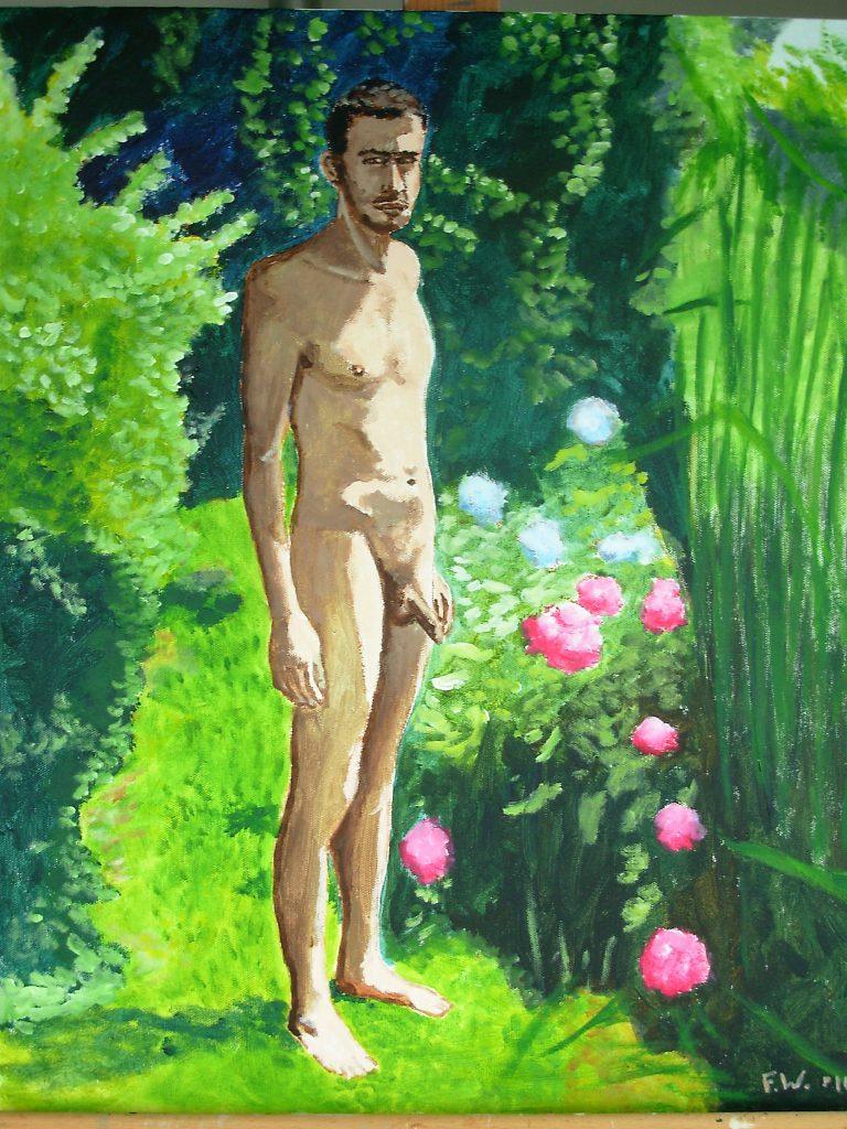 Mattia nel giardino