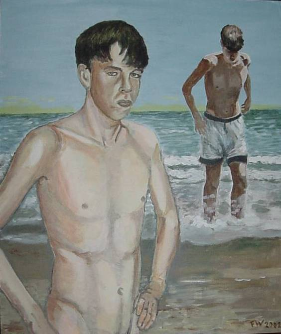 G.J. sulla spiaggia