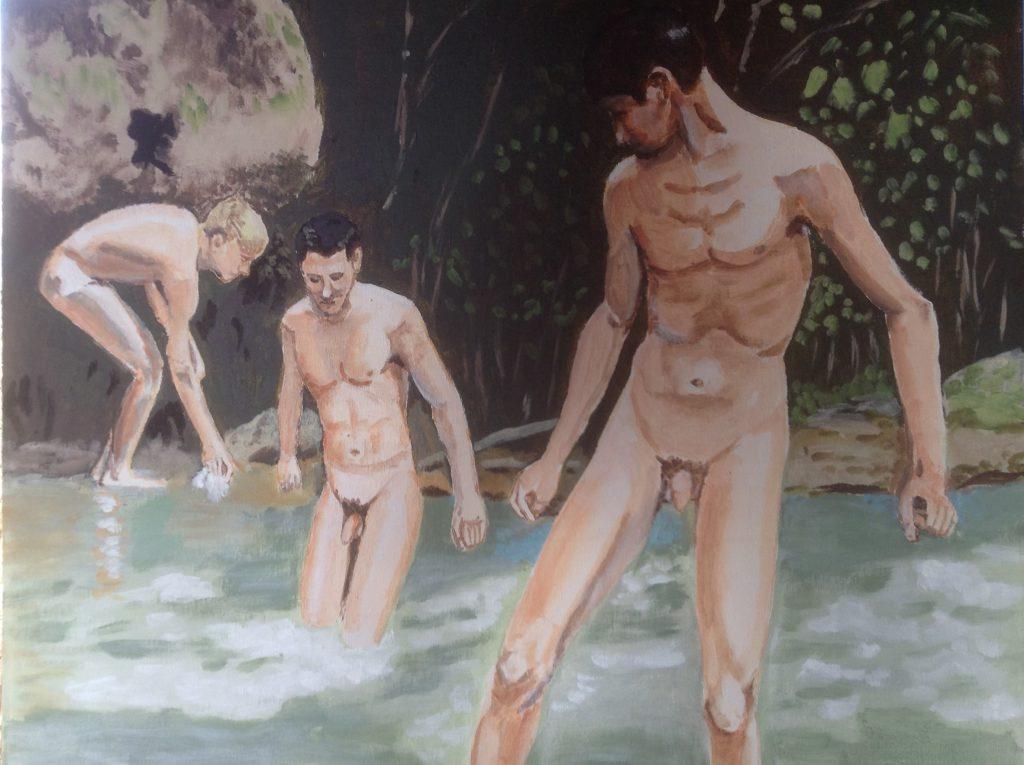 Ragazzi nel torrente